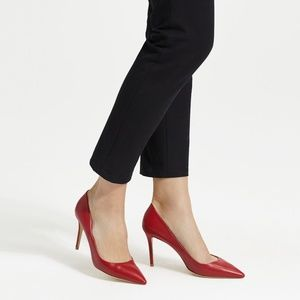 Theory - Red Leather Pump new 7.5 sexy heels